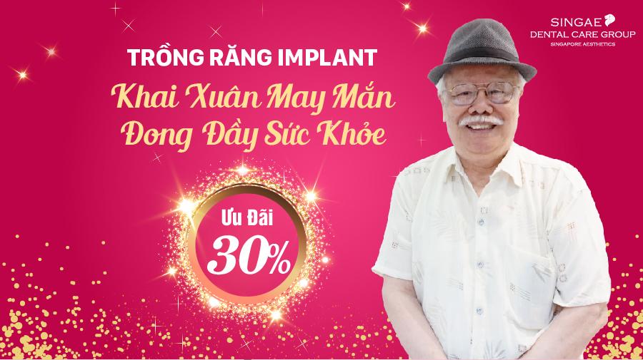 Trồng răng Implant SSI – Ưu đãi 30% đến hết tháng 3/2021
