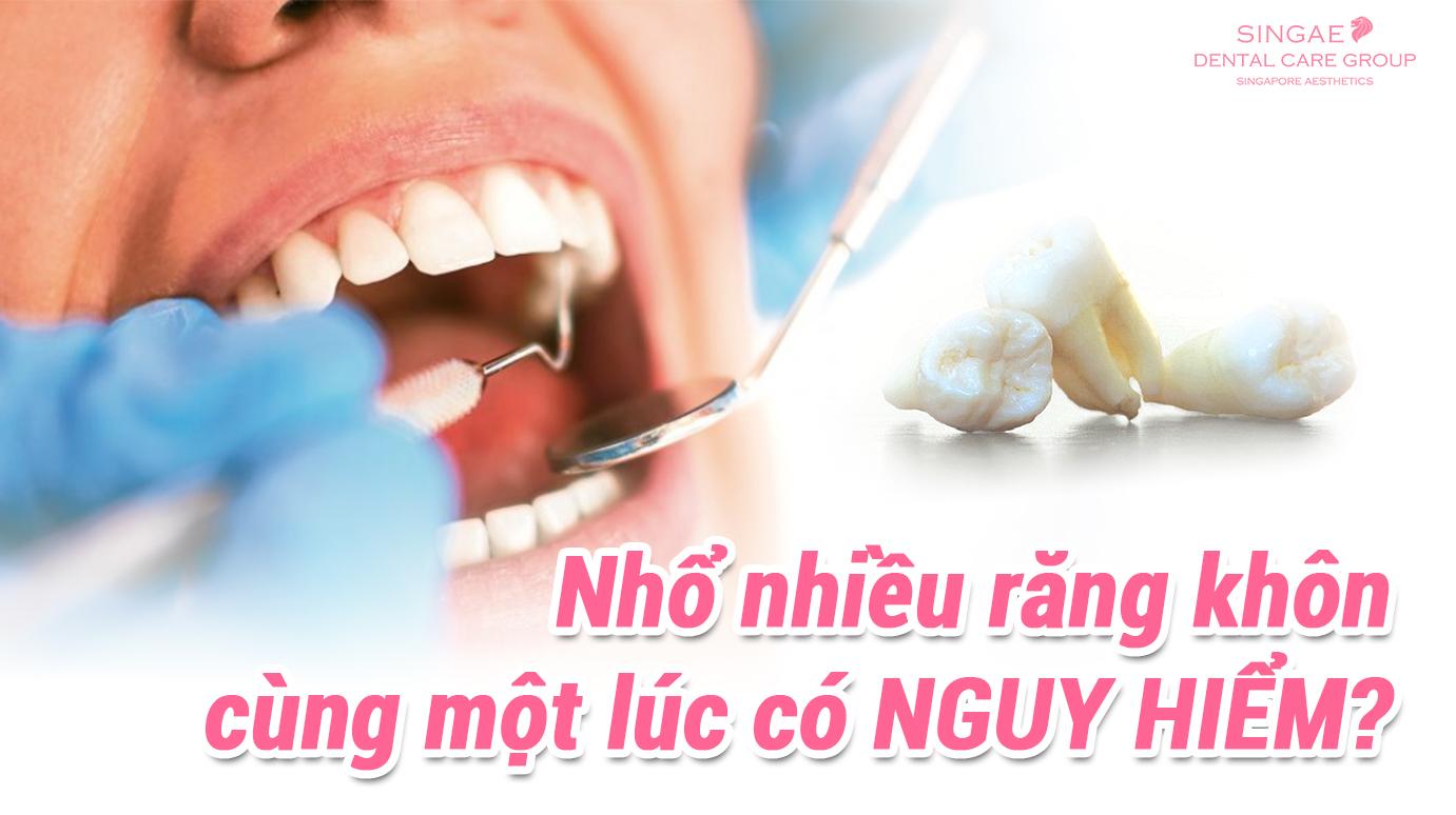 Nhổ răng khôn có nguy hiểm không? có biến chứng nào không?