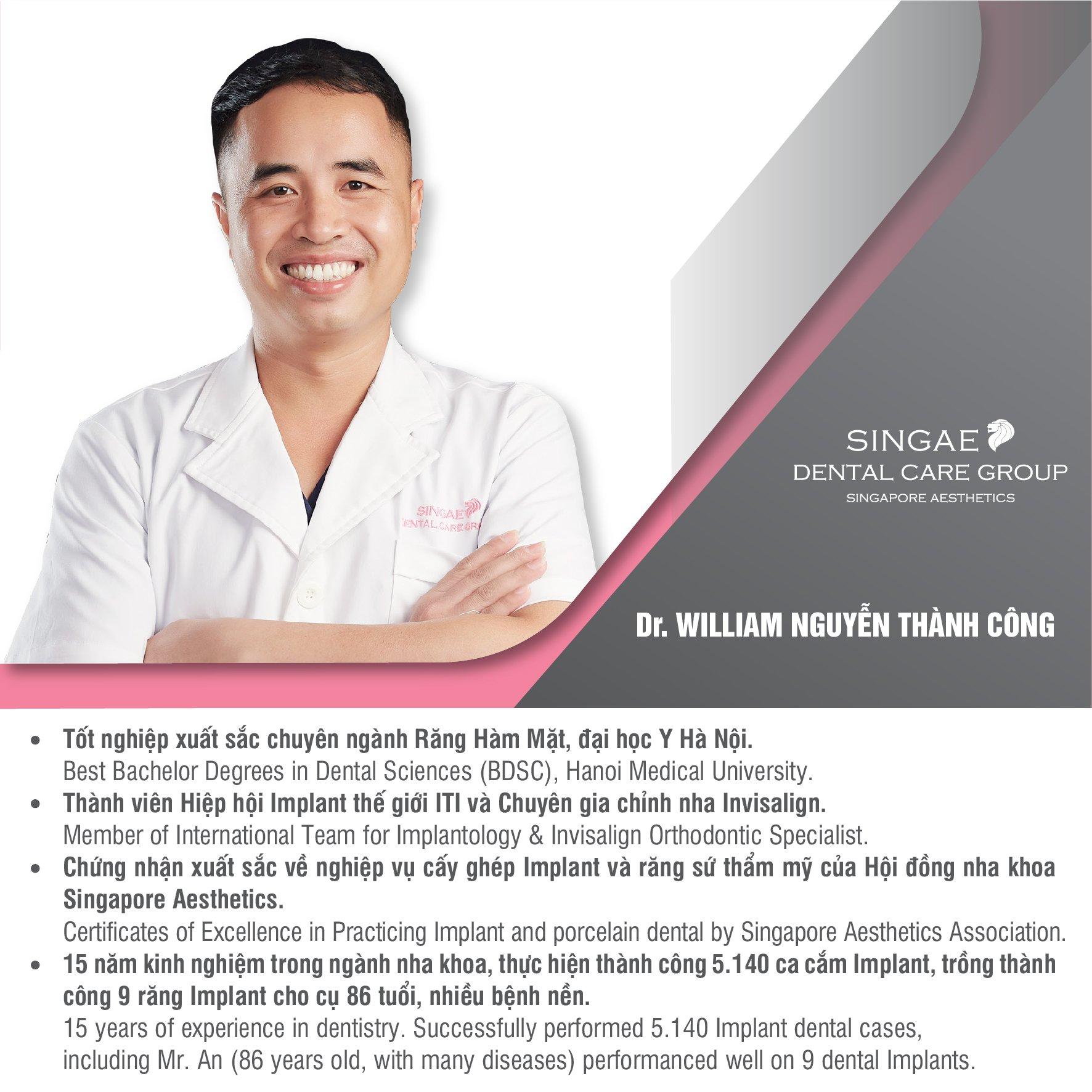 Bác sĩ Nguyễn Thành Công - chuyên gia cấy ghép Implant tại Nha khoa Singae