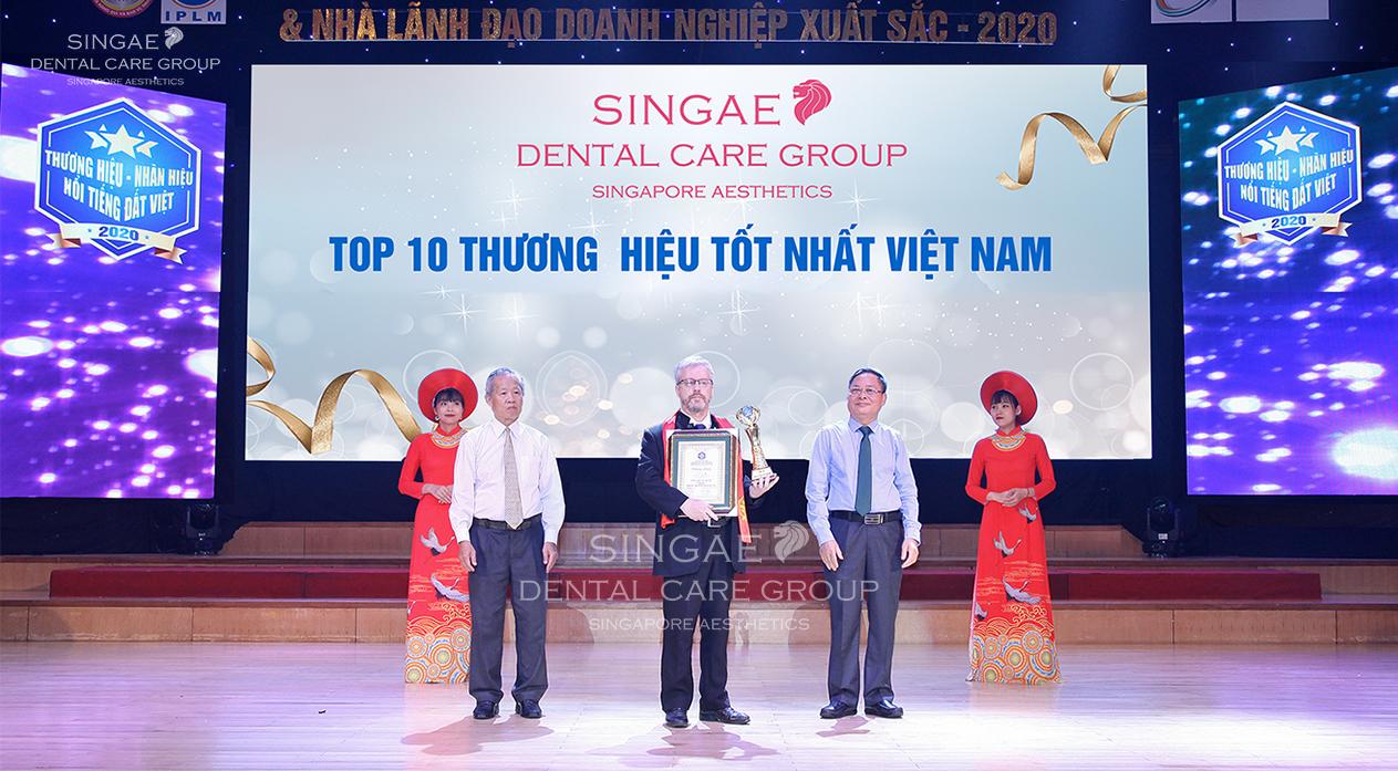 Phòng khám nha khoa Singae – Đơn vị top 10 thương hiệu tốt nhất Việt Nam