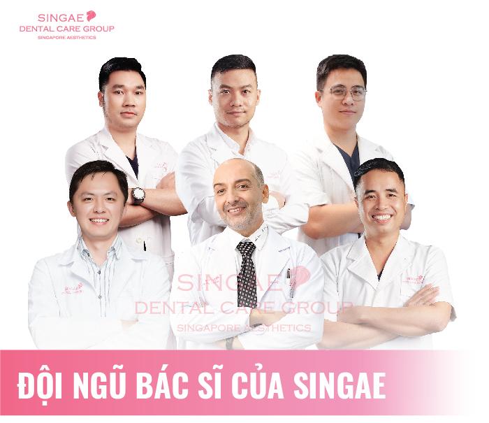 Đội ngũ bác sĩ tại nha khoa Singae