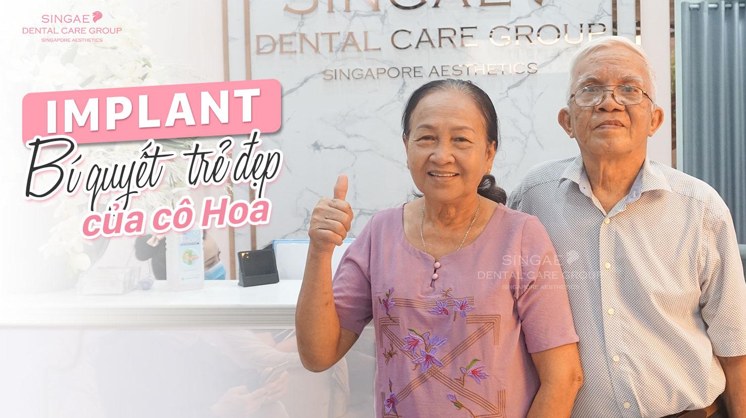 Từng mặc cảm vì … MÓM, nay U70 vừa ăn uống dễ dàng, trẻ ra hơn cả chục tuổi nhờ trồng răng Implant SSI